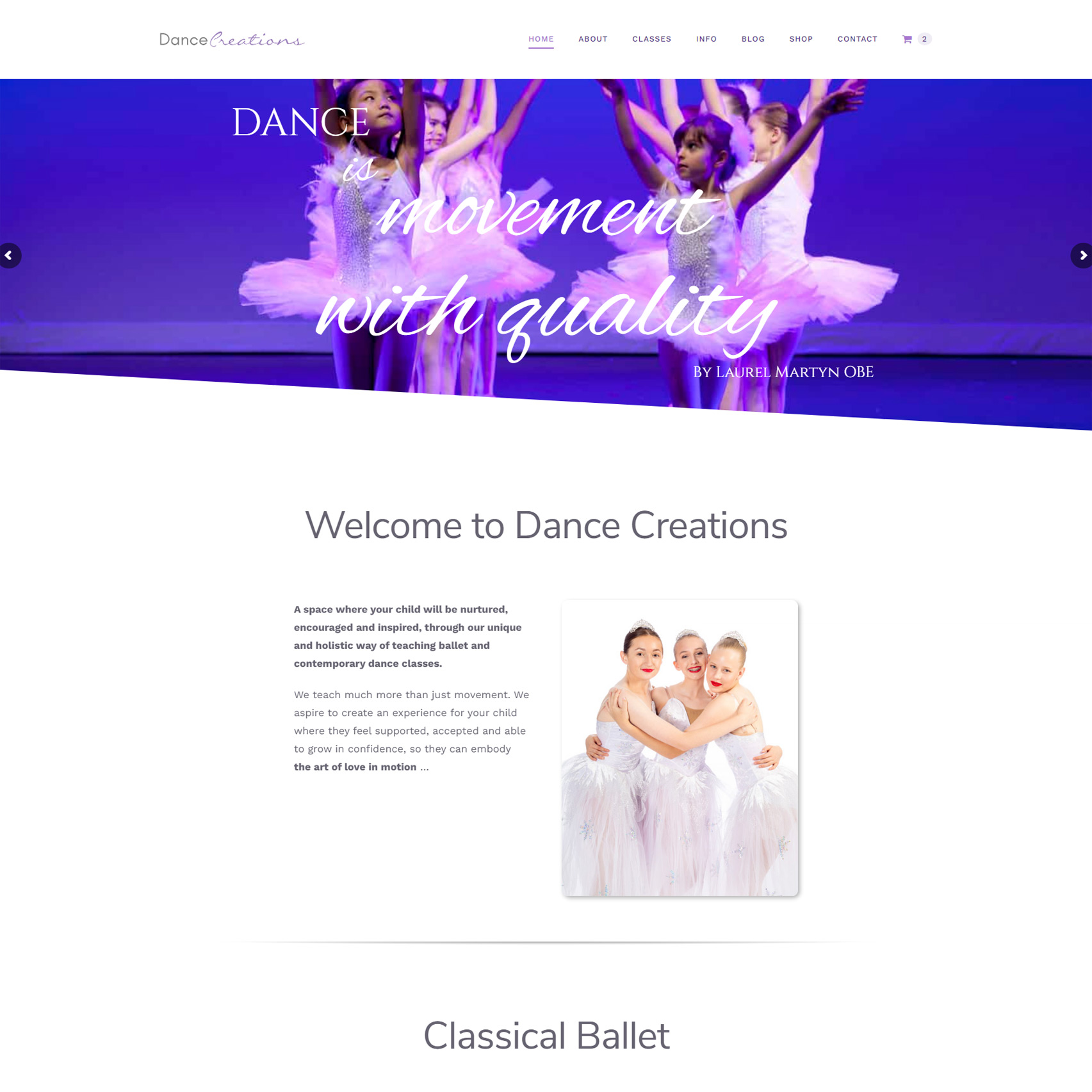 Dance Creations Ballet Classes